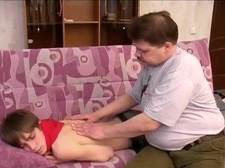 Chubby Daddy play with twink junior