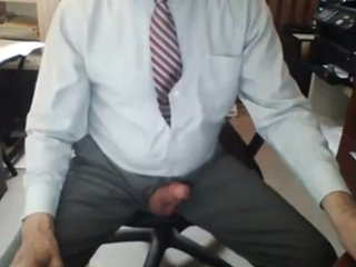 Grandpa in Suit Masturbating