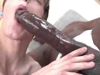 Huge black cock and Twink