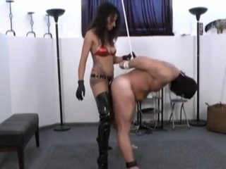 Gay - Daddy cbt and pegging by mistress