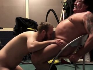 Sucking off a daddy