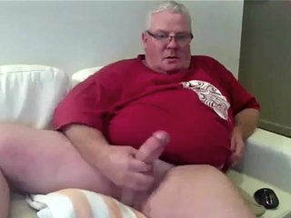 Fat dad cum