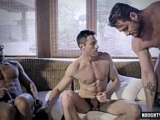 Tattoo gay cuckold and creampie