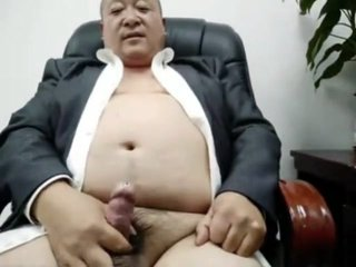 Asian Fat Daddy Uncle Masturbation Cam 叔叔